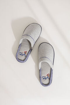 Womensecret Grey textured slippers grey