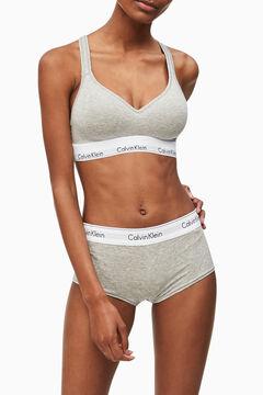 Womensecret Calvin Klein shaped cotton top with waistband grey