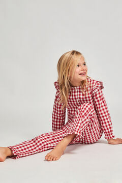 Womensecret Pijama Xadrez Vichy Morango Escuro menina vermelho