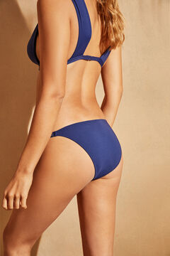 Womensecret Culotte bikini détails brillants bleu bleu