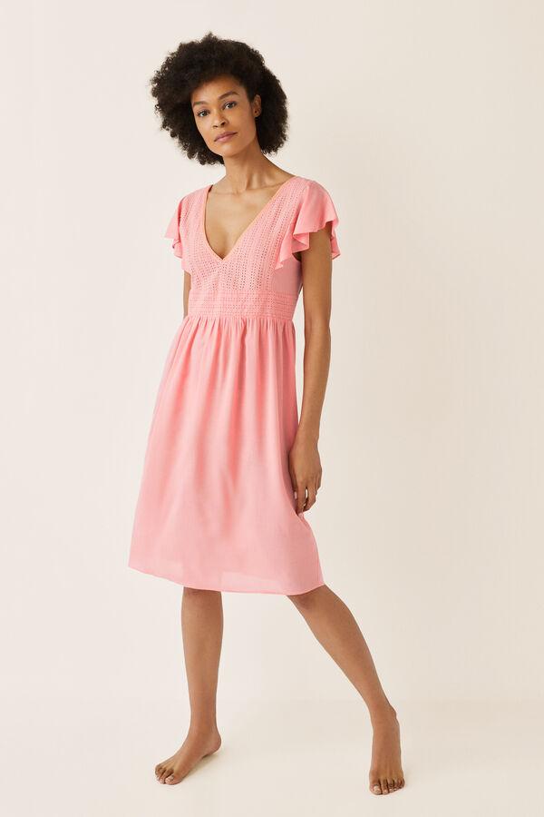9908c12cd Womensecret Vestido corto escote troquelado rosa