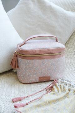 Womensecret Large pink floral vanity case pink