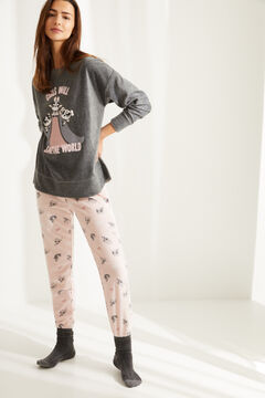 Womensecret Pijama manga comprida Powerpuff Girls polar cinzento