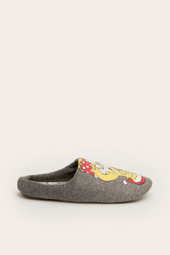 Womensecret Christmas Homer Simpson slingback slippers grey