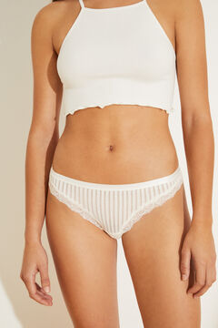 Womensecret Classic white lace panty white