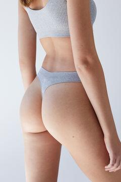 Womensecret Grey seam-free tanga grey