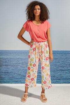 Womensecret Floral print capri bottoms white