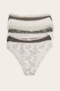 Womensecret 7-pack of grey Brazilian panties grey