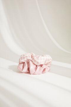 Womensecret Pack Haargummis Vichykaros und Herzen Rosa