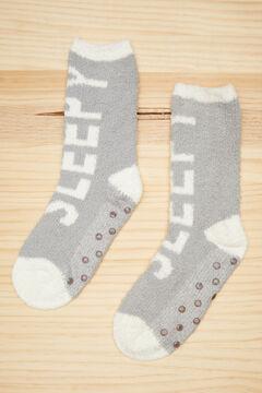 Womensecret Fluffy grey socks  grey