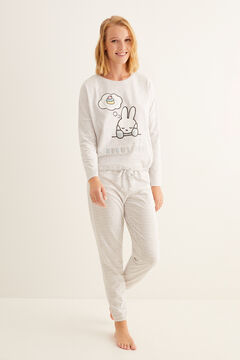 Womensecret Long Miffy striped pyjamas grey