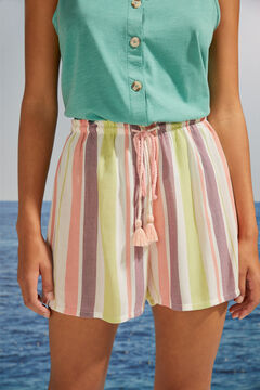 Womensecret Striped print pyjama shorts printed