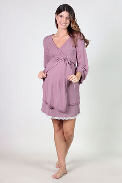Womensecret Maternity robe with matching lace rose