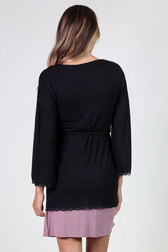 Womensecret Maternity robe with matching lace noir