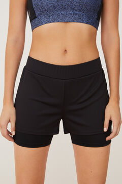 Womensecret Pantalón deportivo corto negro