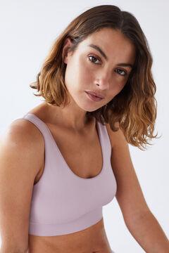 Womensecret lilac seam-free bra top pink