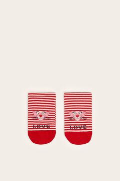 Womensecret Középhosszú, Rózsaszín Párducos zokni fehér