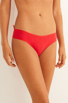 Womensecret Full Brazilian panty in red animal print red