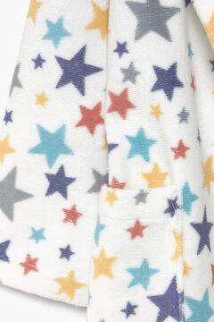 Womensecret Albornoz niños rizo 100% algodón estrellas  azul