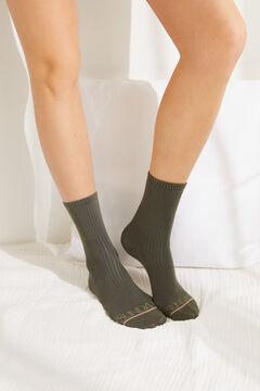 Womensecret Tarka, hosszú zoknik, 3 db-os csomag rávasalt mintás