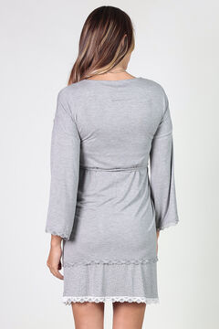 Womensecret Maternity robe with matching lace gris