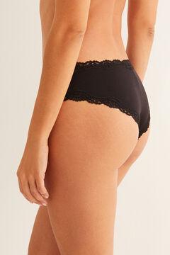 Womensecret Black lace Brazilian panty black