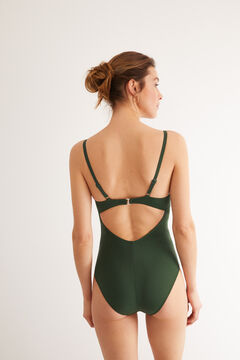 Womensecret Bañador Perfect Fit drapeado verde