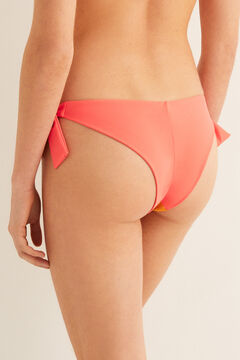 Womensecret Colour block Brazilian bikini bottoms pink