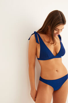 Womensecret Top « shinny » triangle bleu