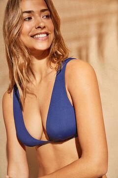 Womensecret Top bikini halter brillo azul azul