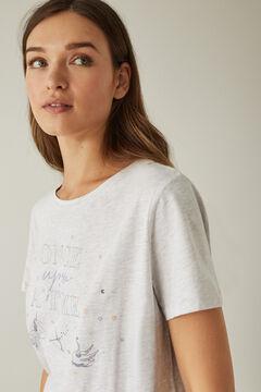 Womensecret Kurzes Hemd Grau Baumwolle Einhorn grey