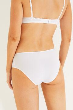 Womensecret 3 microfiber panties pack white