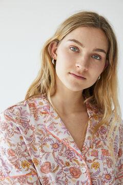Womensecret Short floral cotton pyjamas pink