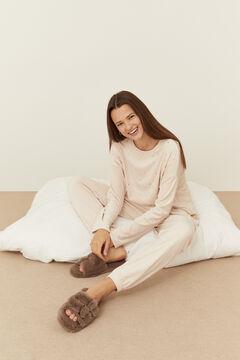 Womensecret Long grey velvet pyjamas  grey