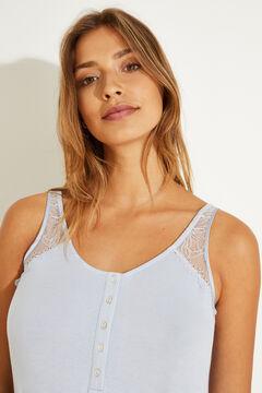 Womensecret Plain blue maternity nightgown blue