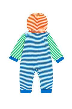 Womensecret Babygrow canelado às riscas do bebê - Algodão orgânico azul
