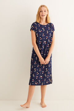 Womensecret Navy midi Mickey nightgown blue