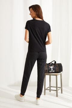 Womensecret Navy 100% cotton Snoopy pyjamas black