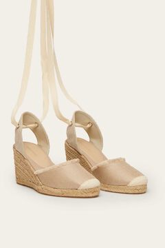 Womensecret Bow wedge white