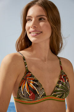 Womensecret Top bikini triangular tropical estampado