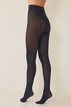 Womensecret Marl tights with lurex blue