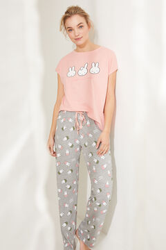 Womensecret Short-sleeved Miffy long pyjamas pink