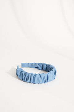 Womensecret Wrinkled effect denim headband blue