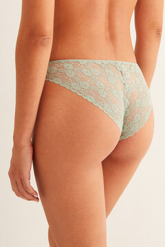 Womensecret Classic mint lace panty green