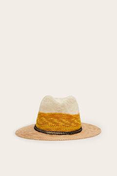 Womensecret Sombrero bicolor estampado