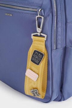 Womensecret Mochila de náilon con bolsillo exterior azul