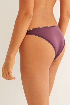 Womensecret Aubergine strappy Brazilian panty  pink