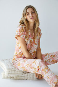 Womensecret Long cotton elephant pyjamas pink