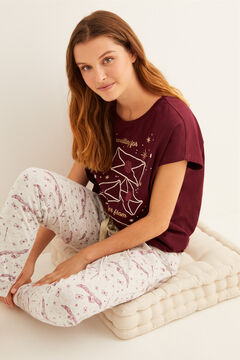 Womensecret Long maroon Harry Potter pyjamas printed