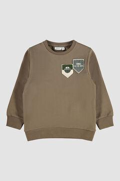 Womensecret Sweatshirt de menino com escudo  cru